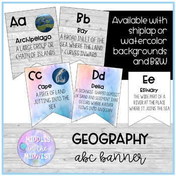Geography ABC Banner