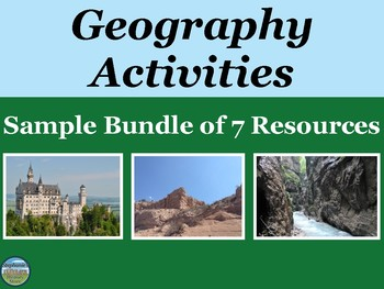 Geography Activities Sample Bundle