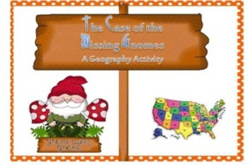 Geography Activity-What state is the missing Gnome in?