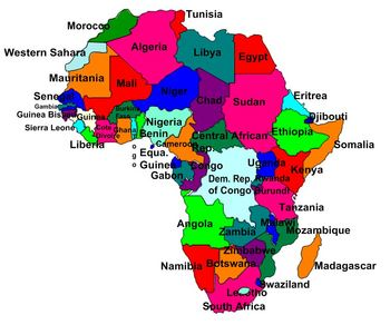 Africa Map Labled | Jackenjuul