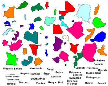 Geography- Africa Labeling Puzzle map