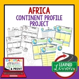 Africa Project Activity Pages (Paper and Google Drive) World Geography