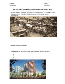 Geography Alive:Chap 5&6 Urban Sprawl and Planning Quiz