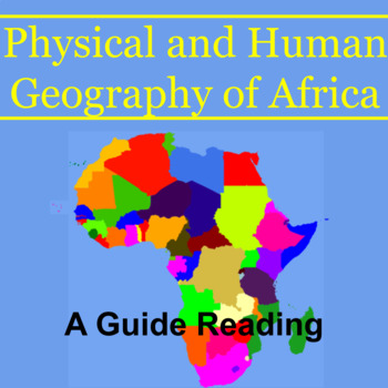Geography Alive! Guided Reading for Physical & Human Geography of Africa