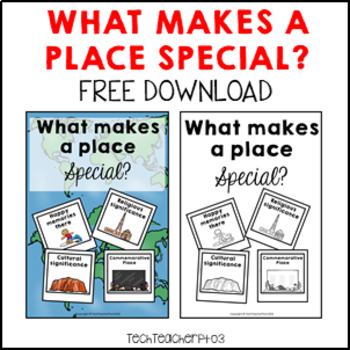 Geography Anchor Chart Special Places FREE DOWNLOAD