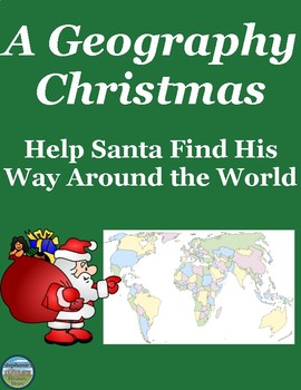 Geography Around the World Christmas Map Activity