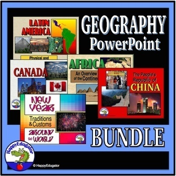 Geography Around the World PowerPoint Bundle