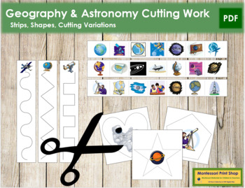 Geography-Astronomy Cutting Strips