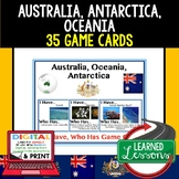 Australia Game Cards, Geography Test Prep, Print & Digital Distance Learning