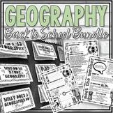 Geography Back to School Bundle