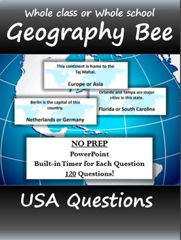 Geography Bee - 120 USA Questions