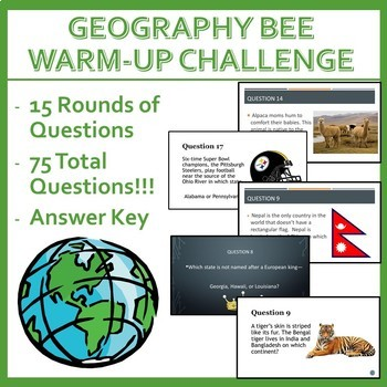 Geography Bee Challenge - Set One
