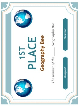 Geography Bee - 120 World Questions