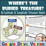 Geography Bell Ringers:  Latitude and Longitude Treasure H
