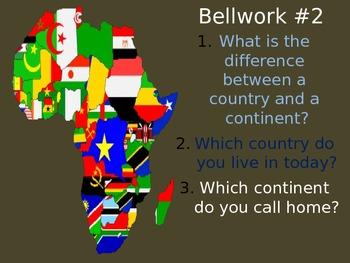 Geography Bellwork / Bellringer