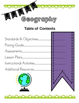 Geography Binder Cover