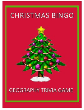 Christmas Tree Bingo: Geography Bingo Trivia Game For Christmas