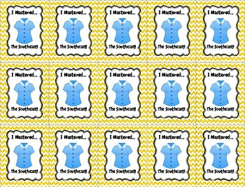 Geography Brag Tags for Upper Elementary
