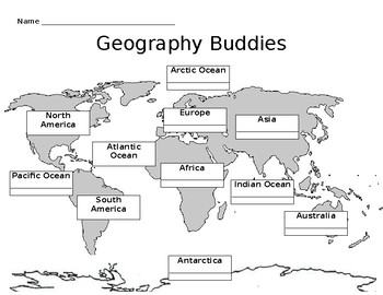 Geography Buddies Template