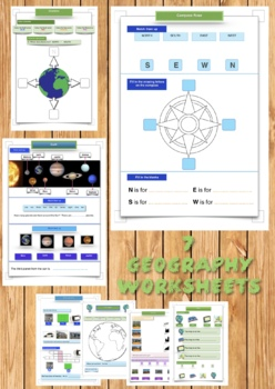 Geography Worksheets and activities