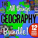 Geography Lessons Bundle: 11 resources for Maps, Geography, Latitude, 5 Themes!