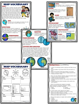 Geography Bundle- 5 Themes, Reading Comprehension, Word Wall