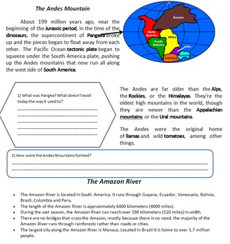 Geography Bundle - Earth, Pangea, North and South America, Asia, Arctic, Maps
