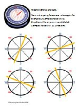 Geography Activities: Latitude & Longitude, Country Comparison, & Compass Rose