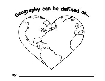 """Geography Can Be Defined As"" Coloring and Subject Matter Project Worksheet"