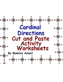 Geography: Map Skill Cardinal Directions Cut & Paste Activity Worksheets:
