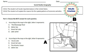 Geography Center Activity/Test