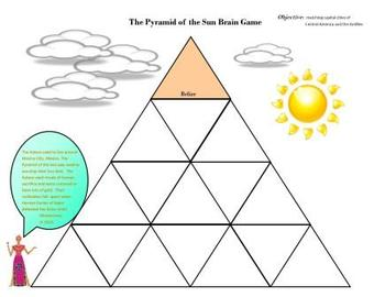 Geography:  Central America/Antilles Sun Pyramid Brain Game