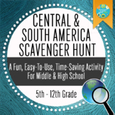 Geography: Central and South America Scavenger Hunt_Intodu