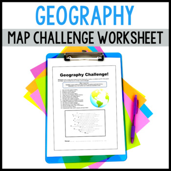 Geography Challenge - Helps Students Scour the MAP!