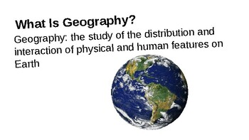 Geography Chapter 1 Notes