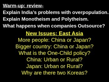 Geography - China vs. Japan powerpoint