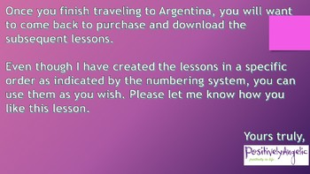 Geography Class 2, Argentina