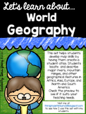 Geography: Continents and Landforms Atlas