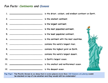 Geography: Continents and Oceans