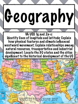 Geography Cornell Notes - US History from 1865 to Present