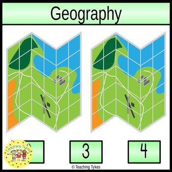 Geography Count and Clip Task Cards