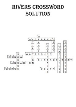 Geography Crossword Puzzle: Rivers