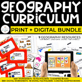 Geography Curriculum for Special Ed: PRINT + DIGITAL BUNDL