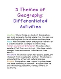 Geography Differentiated Activities
