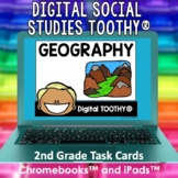 Geography Digital Social Studies Toothy® Task Cards | Digi