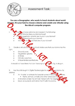 Geography & Digital Technologies PBL - Task sheet & Rubric