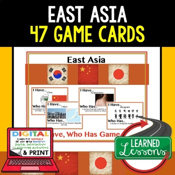 Geography East Asia Game Cards