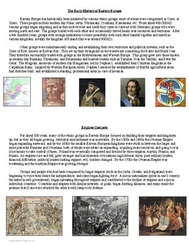 Geography Eastern European History Introduction or Review Activities