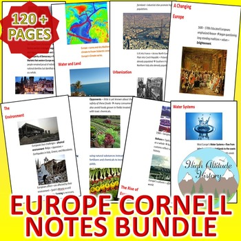 Europe Cornell Notes *Bundle* (Geography)