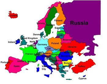 Geography- Europe Labeling Puzzle Map